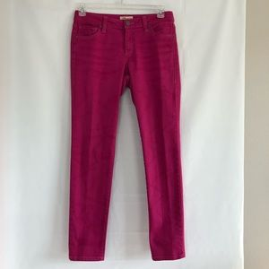 CAbi Bardot Skinny Hot Pink Marbled Jeans Size 8